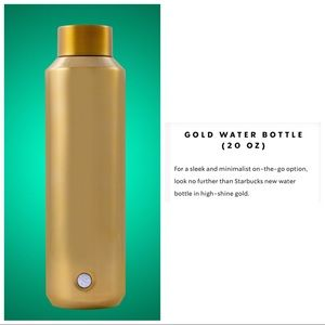 Starbucks Limited Edition Gold Water Bottle 8 Hour